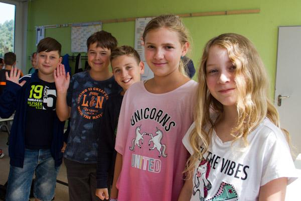 Fünftklässler der Greenhouse School